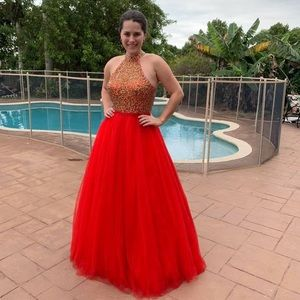 NWT Red prom or pageant ball gown